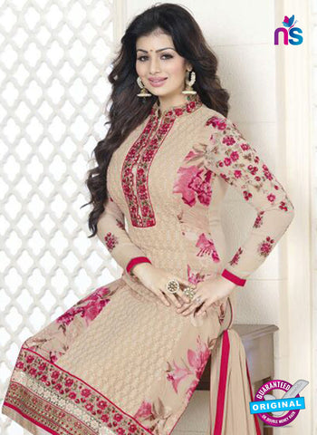 Avon 756 Beige Georgette Party Wear Suit Online