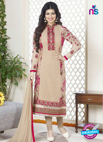 Avon 756 Beige Georgette Party Wear Suit