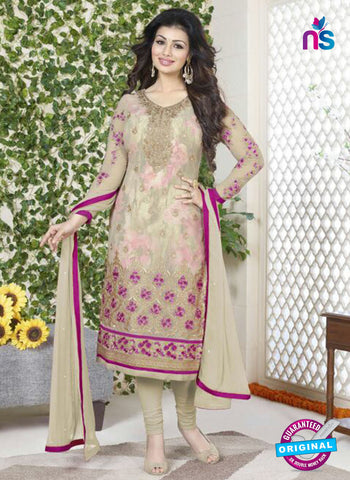 Avon 757 Beige Georgette Party Wear Suit