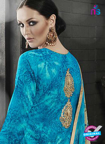 Ambica 7602 Sky Blue Cambric Cotton Embroidery Pakistani Suit Online