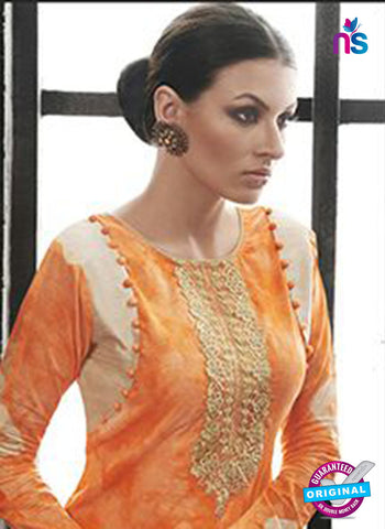 AZ 2139 Orange Cambric Cotton Embroidery Pakistani Suit Online