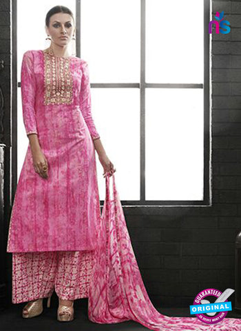 Az 2141 Pink Cambric Cotton Embroidery Pakistani Suit