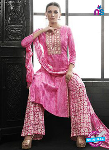 Az 2141 Pink Cambric Cotton Embroidery Pakistani Suit Online