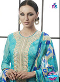 Az 2142 Sea green Cambric Cotton Embroidery Pakistani Suit Online