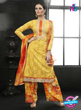 Az 2143 Yellow Cambric Cotton Embroidery Pakistani Suit