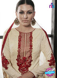 Az 2146 Beige Cambric Cotton Embroidery Pakistani Suit Online