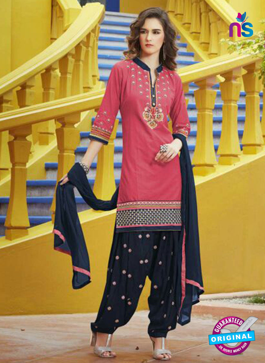SC 13756 Pink Cotton Designer Exclusive Fancy Salwar Patiala Suit