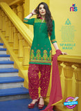 SC 13746 Green and Maroon Cotton Designer Exclusive Fancy Salwar Patiala Suit