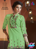 SC 13750 Green and Black Cotton Designer Exclusive Fancy Salwar Patiala Suit