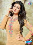 SC 13442 Peach Embroidered Georgette Designer  Party Wear Straight Suit Online
