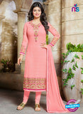 SC 13445 Pink Embroidered Georgette Designer  Party Wear Straight Suit