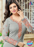 SC 13446 Gray Embroidered Georgette Designer  Party Wear Straight Suit Online