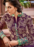 Omtex 76 Purple Color Chiffon Designer Suit