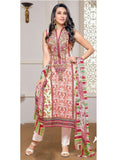 MF 77004 White & Pink Color Cotton Designer Suit