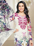 MF 77007 White Color Cotton Designer Suit