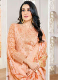 MF 77008 Peach Color Cotton Designer Suit