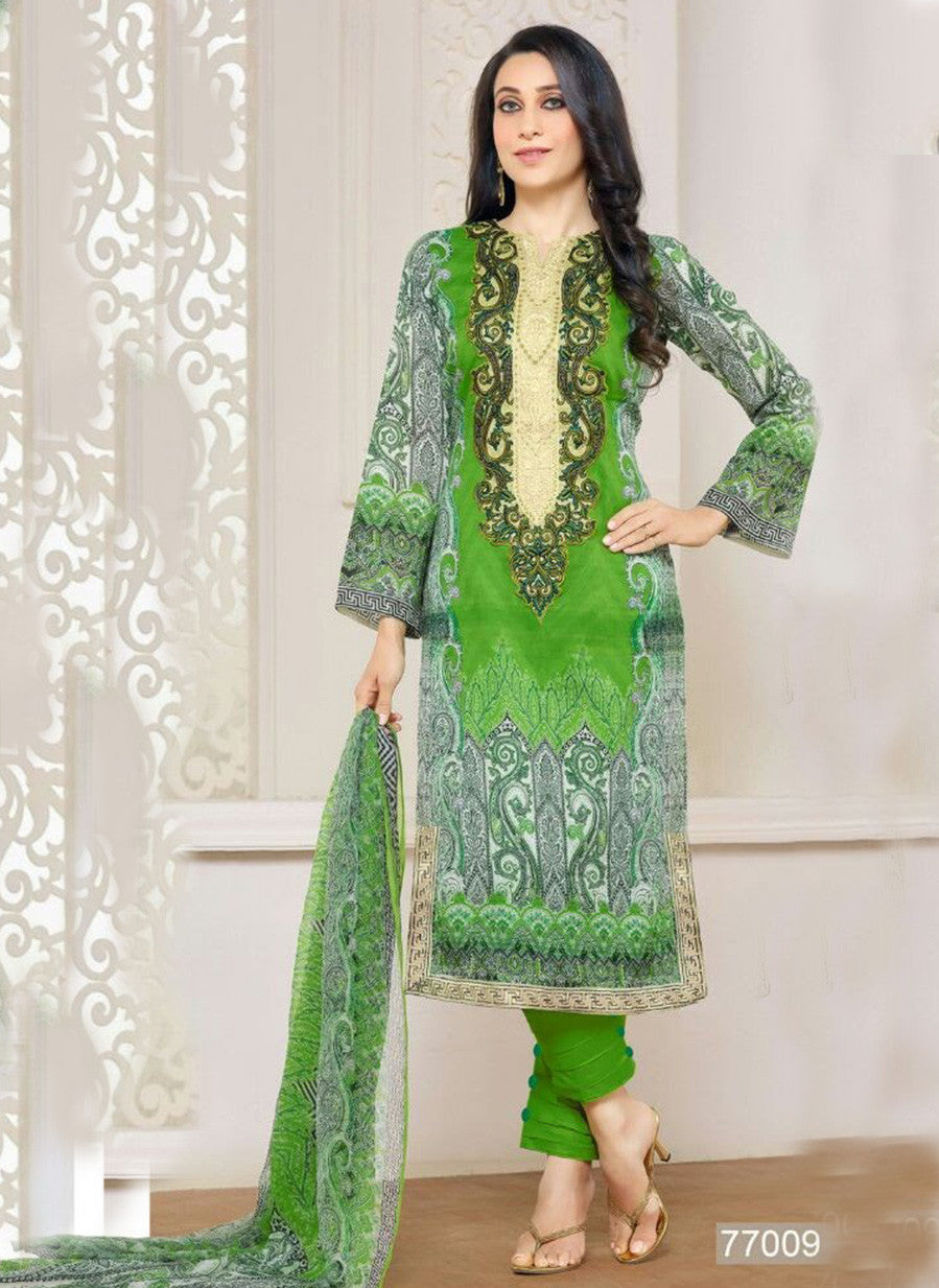 MF 77009 Green Color Cotton Designer Suit