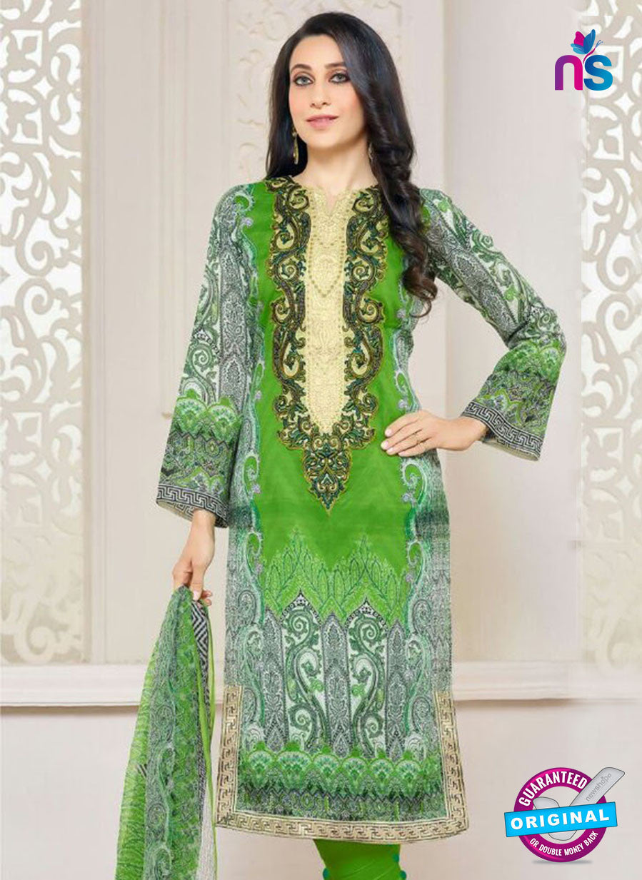 NS10467 Multicolor and Green Party Wear Cotton Satin Straight Suit