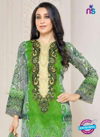NS10467 Green Party Wear Cotton Satin Straight Suit