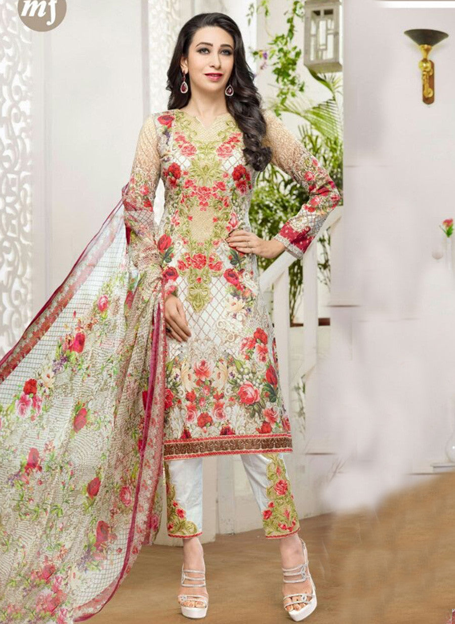 MF 77015 Multi Color Cotton Designer Suit