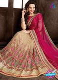 Ritz Royal 7701 Beige Net and Chiffon Wedding Saree online
