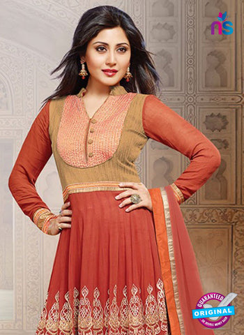 SC 14356 Red Embroidered Georgette Wedding Wear Anarkali Suit