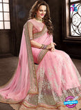 Ritz Royal 7702 Pink Net and Chiffon Wedding Saree online