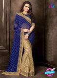 AZ 3746 Beige Georgette and Chiffon Party Wear Saree
