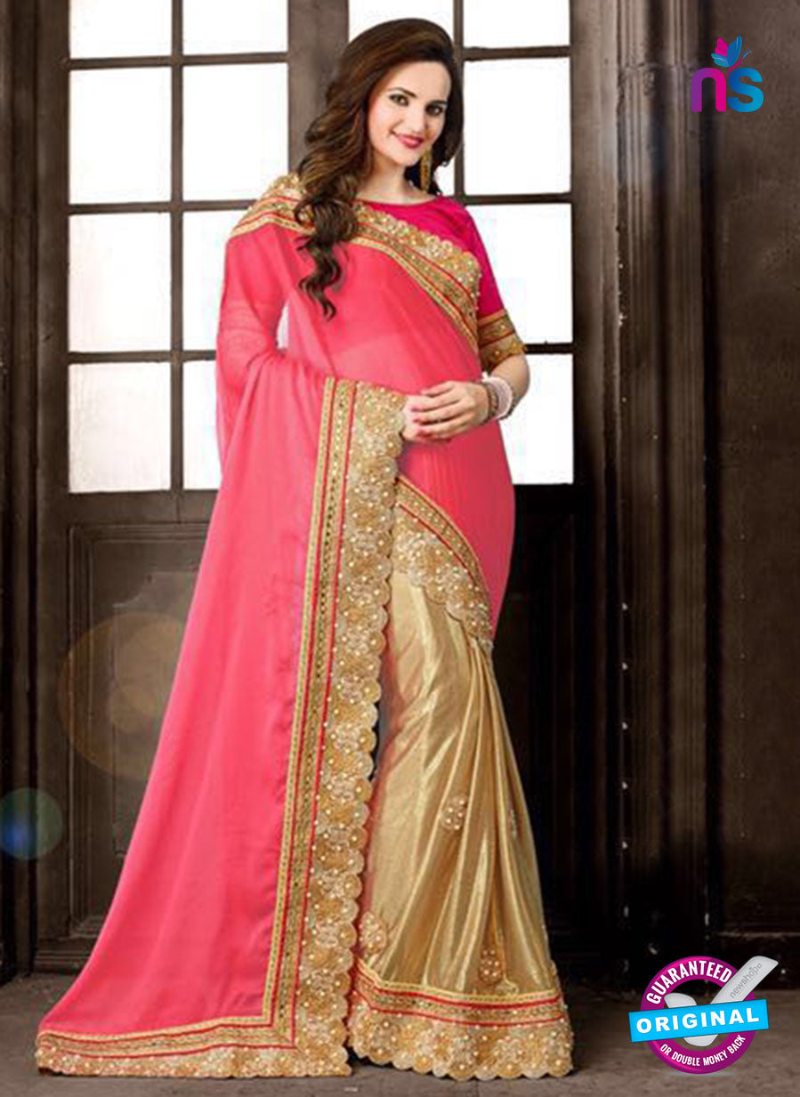 AZ 3748 Brown Chiffon Party Wear Saree