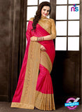 AZ 3750 Pink Silk Party Wear  Saree
