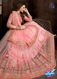 Ritz Royal 7710 Pink Net and Chiffon Wedding Saree Online