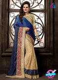 Ritz Royal 7712 Beige Georgette and Net Wedding Saree