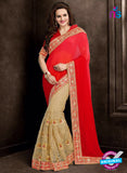 AZ 3758 Beige Georgette and Net Party Wear Saree