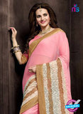 AZ 3760 Pink Georgette Party Wear Saree