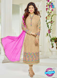 SC 13818 Brown Designer Occasion Wear Georgette Salwar Suit