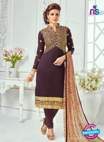 SC 13362 Purple Chanderi Cotton Designer Long Straight Suit