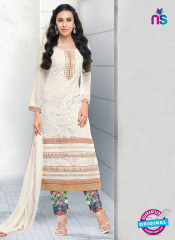 SC 12948 White and Multicolor Net with Georgette Party Wear Straight Suit