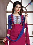 NS11235 Blue and Pink Pure Cotton Straight Suit