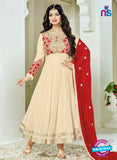 SC 14041 Beige Georgette Exclusive Fancy Function Wear Designer Anarkali Suit