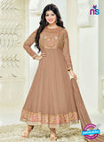 SC 14037 Brown Georgette Exclusive Fancy Function Wear Designer Anarkali Suit