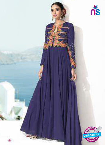 Rose 7865 Blue Anarkali Suit