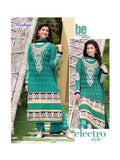 NS11864  SeaGreen and Silver Georgette Straight Suit