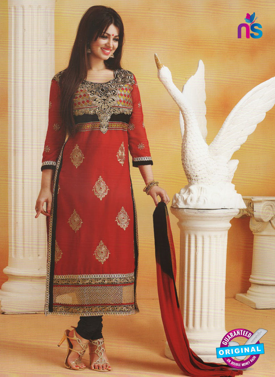 Khushika 7910 Red Bollywood Suit