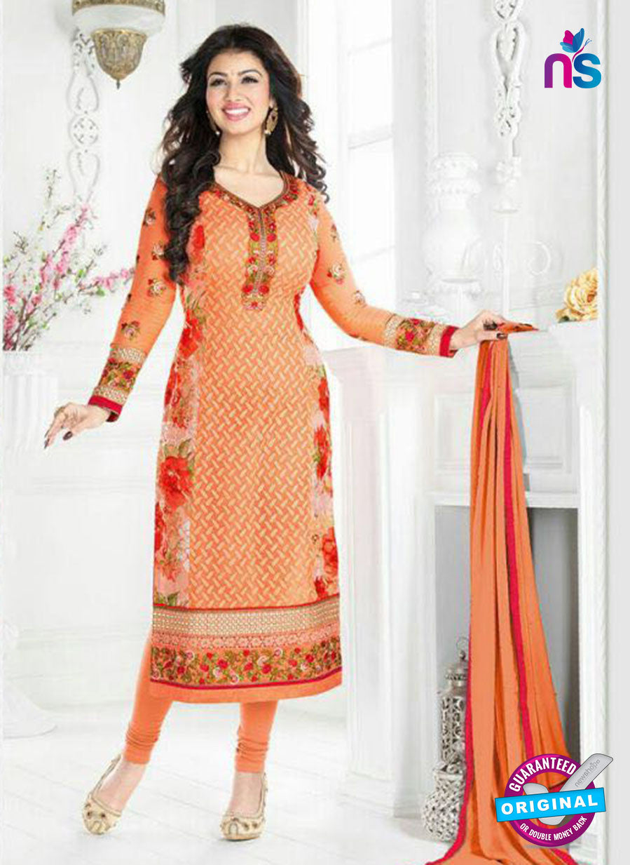 Avon 796 Orange Georgette Party Wear Suit