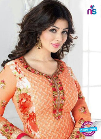 Avon 796 Orange Georgette Party Wear Suit Online