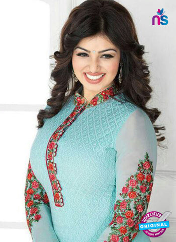 Avon 797 Sky Blue Georgette Party Wear Suit Online