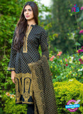 SC 13272 Black Printed Cambric Lawn Cotton Pakistani Suit