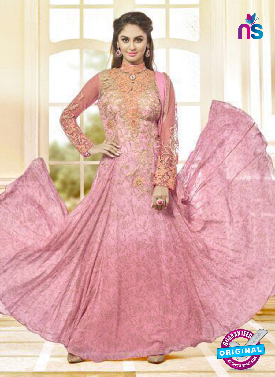 AZ 3651 Pink Georgette Anarkali Suit