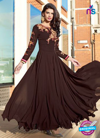 Aashirwad 80002 Brown Designer Gown