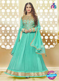 AZ 3652 Sea Green Georgette Anarkali Suit